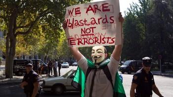 Demonstrasjon i Madrid