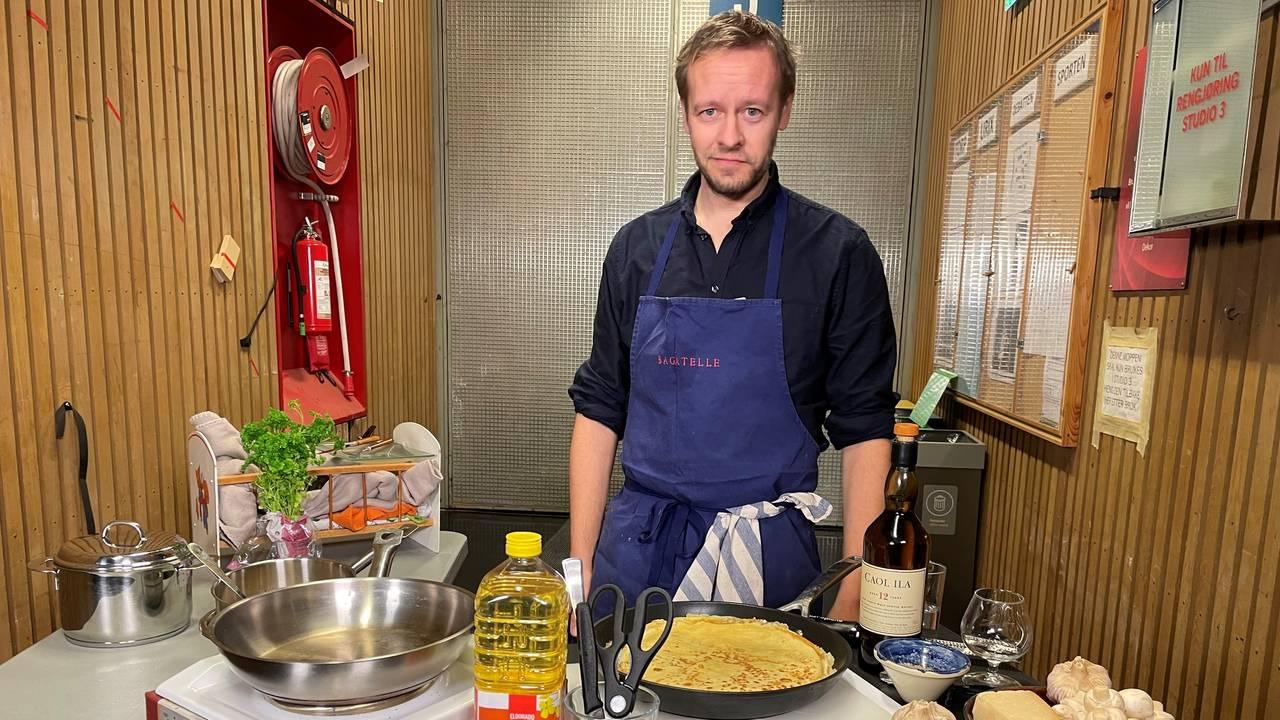 Christopher Sjuve tilbereder Tix-pannebånd