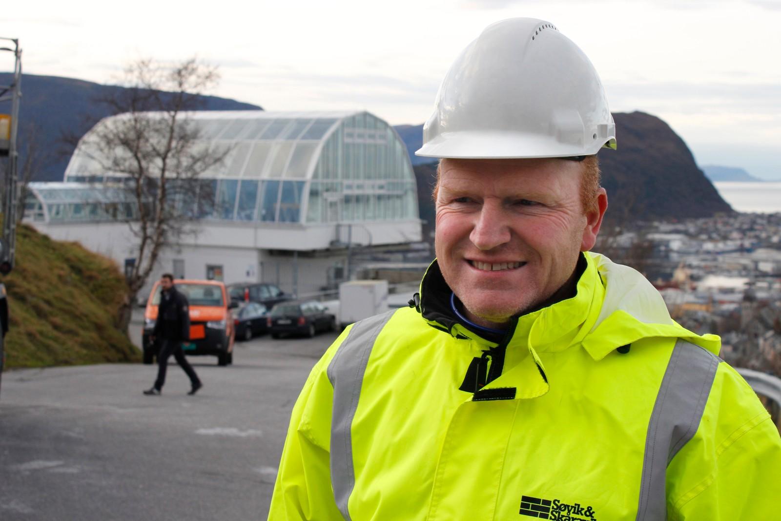 Lars Tysse er anleggsleiar ved entreprenøren Søvik og Skåravik AS.