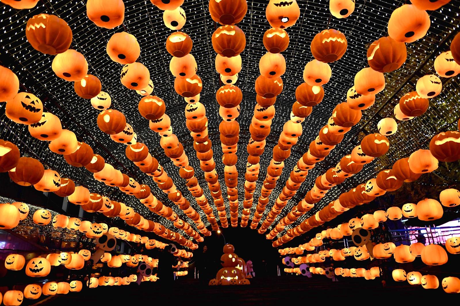 Det er snart Halloween i storbyen Shenyang i Kina.