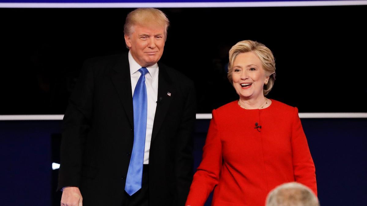 Donald Trump og Hillary Clinton møttes i den første debatten før presidentvalget i USA - Foto: David Goldman/Ap