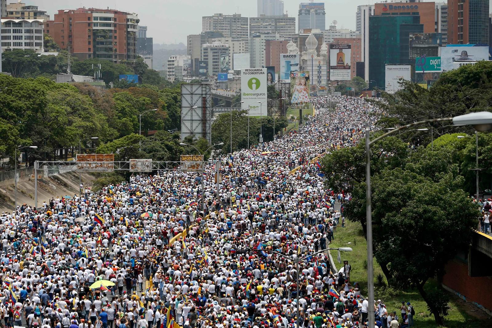 Demonstrasjonen har blitt omtalt som «alle marsjers mor», og startet onsdag.