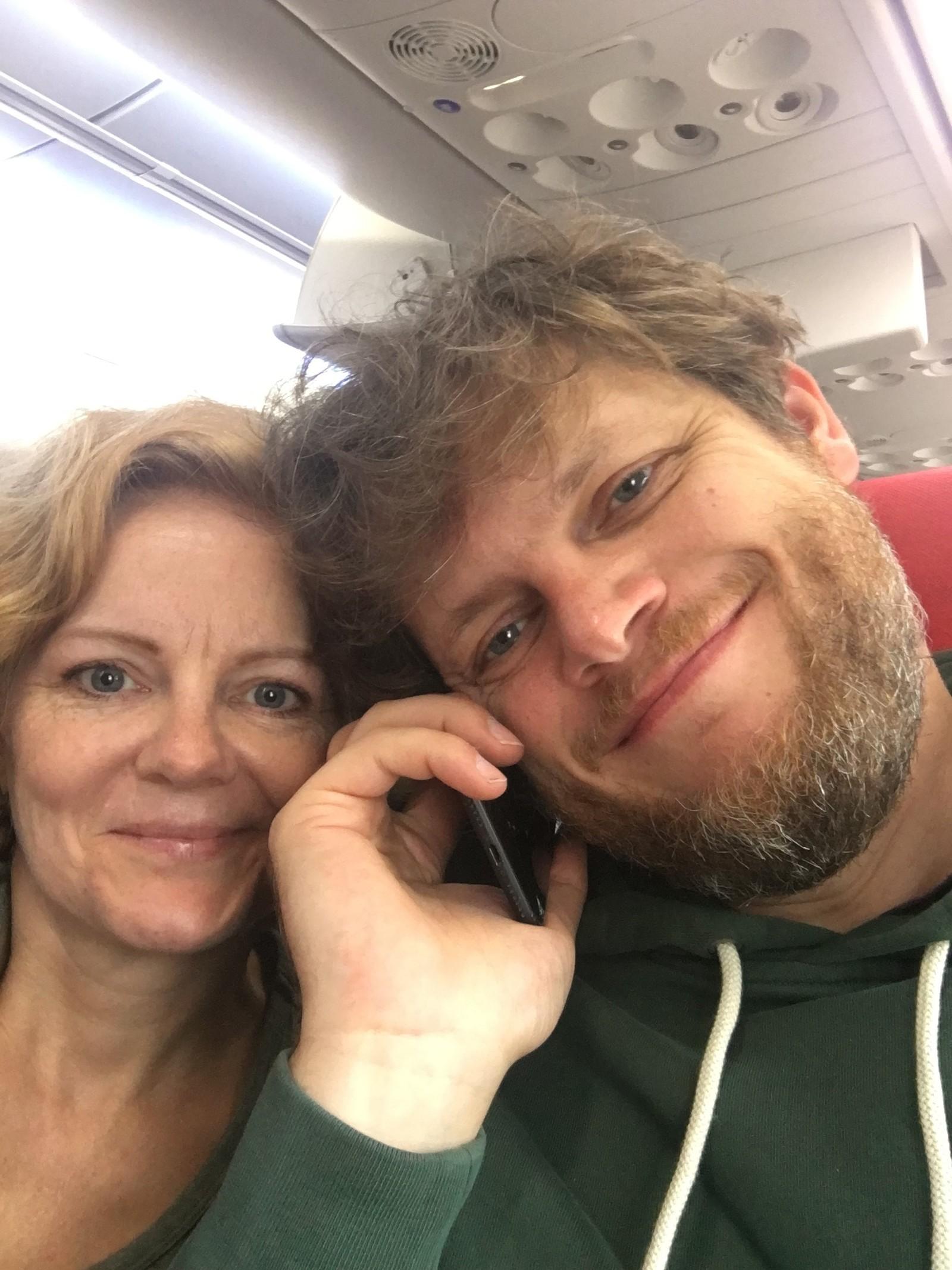 Vik og Brenner på vei hjem fra Svalbard.
