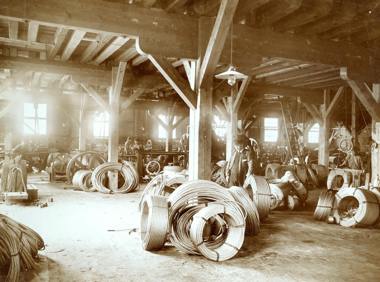 Ståltaufabrikken 1910.