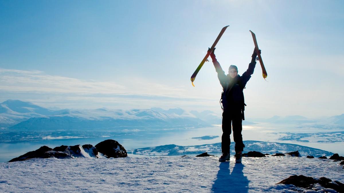jubel på fjellet - Foto: Lien, Kyrre/NTB scanpix