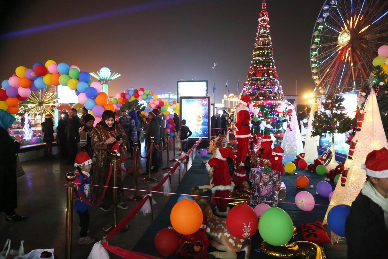 Her feirer irakere feirer inngangen til det nye året i byen Basra.