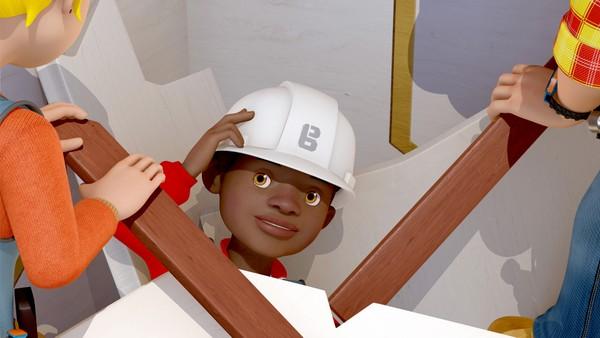Britisk animasjonsserie. Farlig hus. Uvitende om at filmkulissene Bob bygger er designet for å kollapse under et filmstunt, oppdager den sikkerhetsbevisste Leo noe han tror er et problem og fikser det.