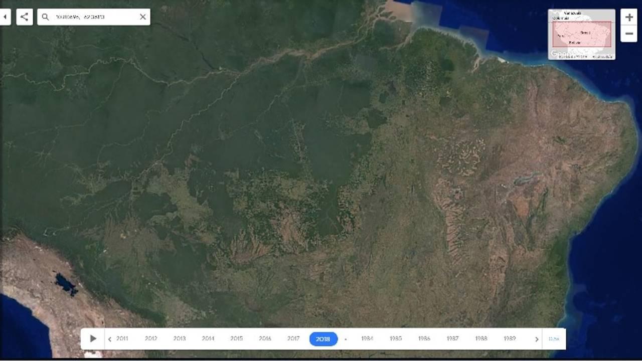 Google Earth Amazonas 2018