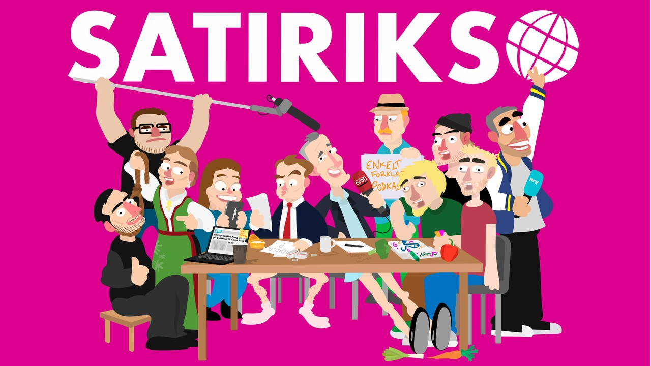 Satiriks Redaksjonsmote Spesial Live Fra Edderkoppen Scene Nrk Radio