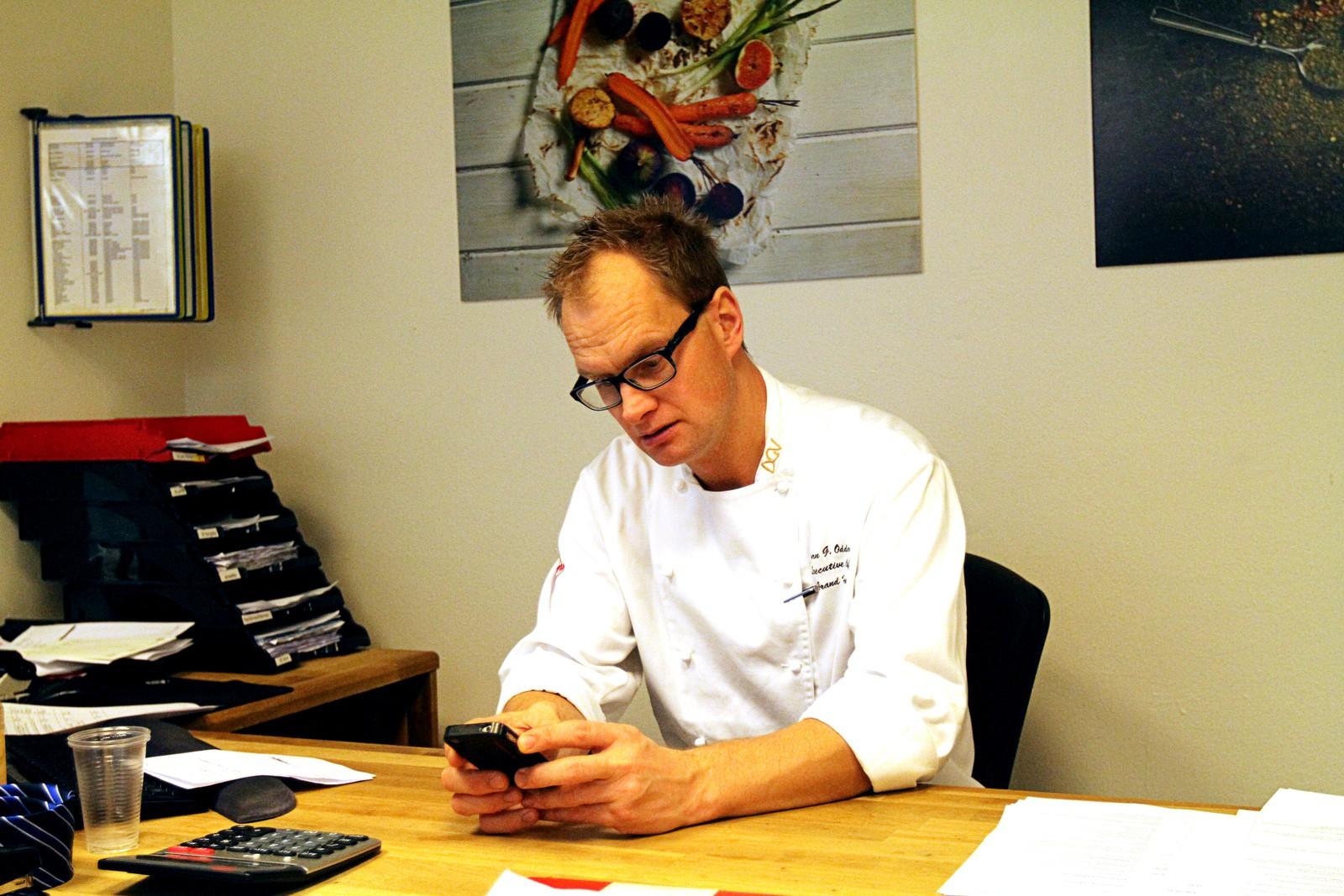 Kjøkkensjef Jørn Odden har jobbet med menyen helt siden fredsprisvinnerne ble kunngjort.