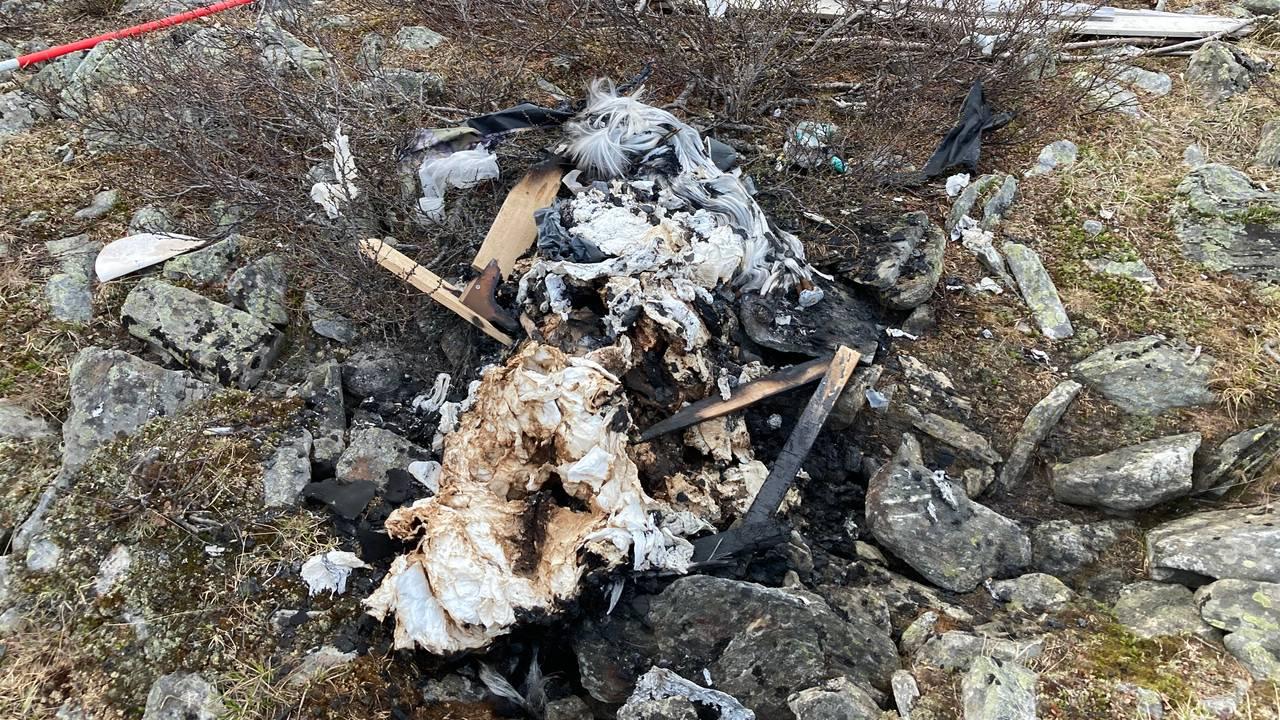 Forsøpling ved Goččesjávri