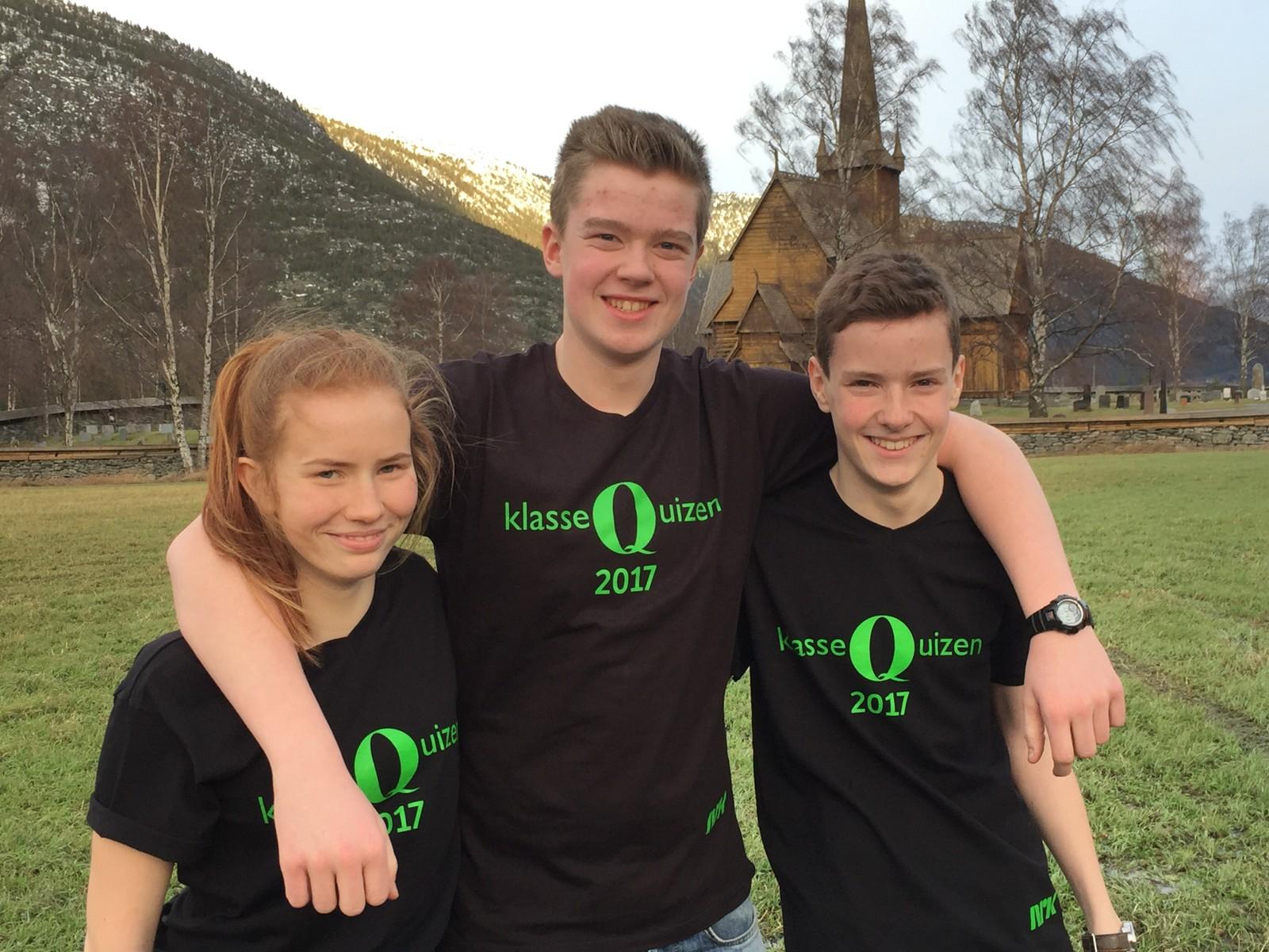 Brit Irene Mork, Erik Vaagaasar og Tor Espen Ovesen fra Lom ungdomsskule klarte sju rette.