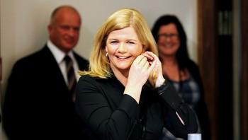 Anne Sandvik Lindmo ledet pressekonferansen før Nobelkonserten.