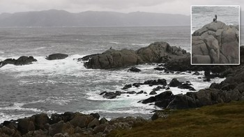 Fotograf i stormen på Kråkenes