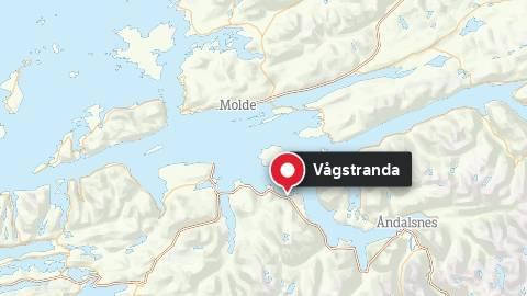 Kart som viser Vågstranda i Rauma