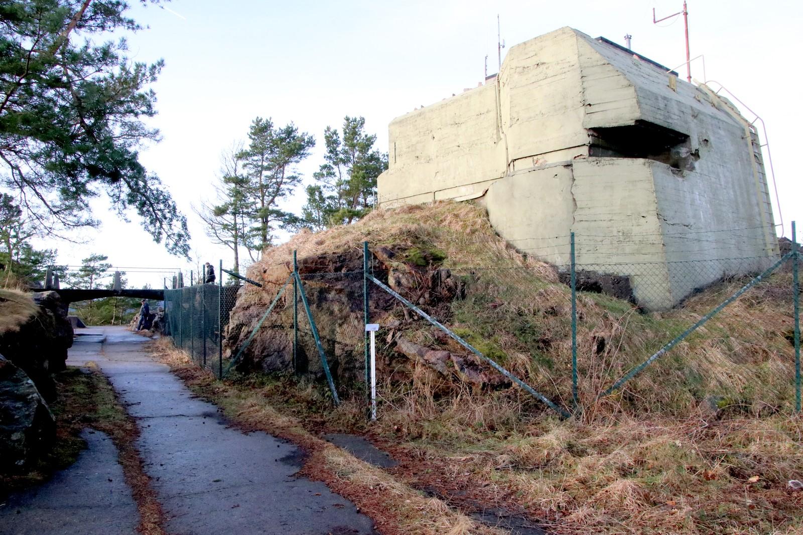 Under bakken til venstre skjuler Haubitz gangen seg.