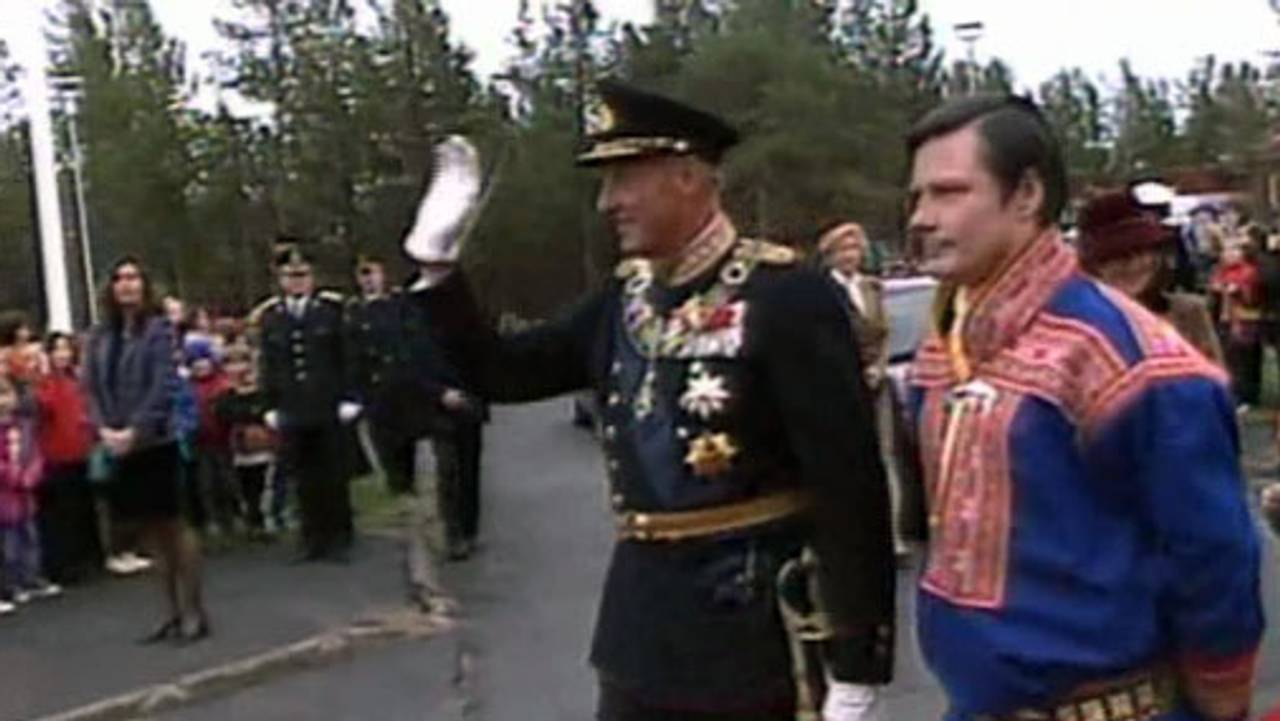 Kong Harald med sametingspresident Ole Henrik Magga