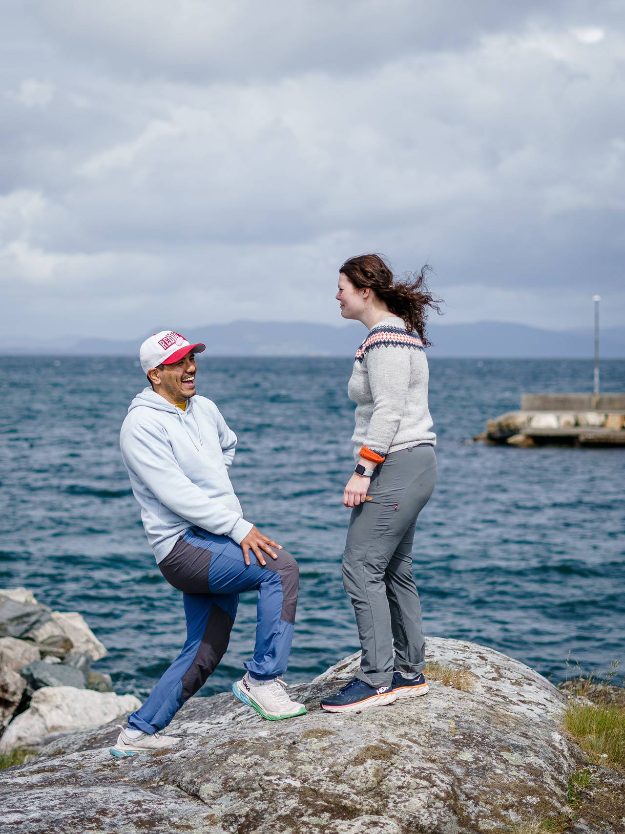 Jonas Bayat Augestad og Linn Christine Steinnes