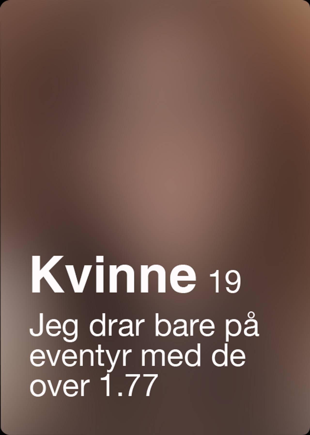 Tinder-profil med alderskrav - 8