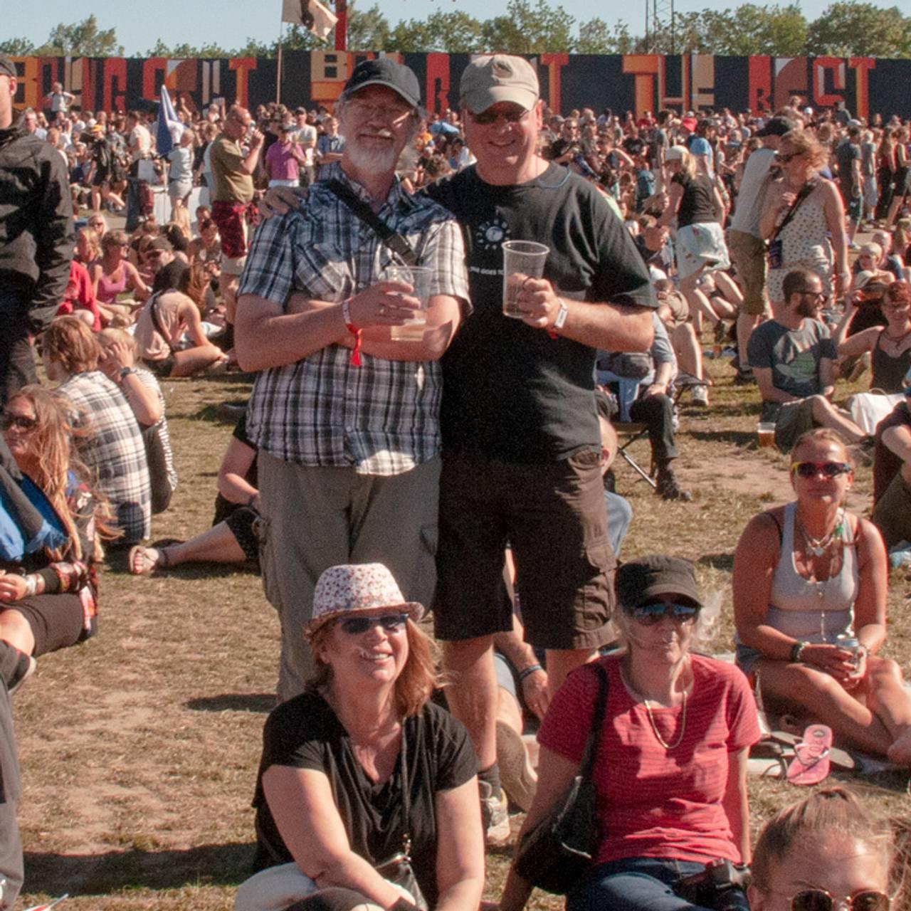 Victor og Mette Faanes på Roskilde i 1999.
