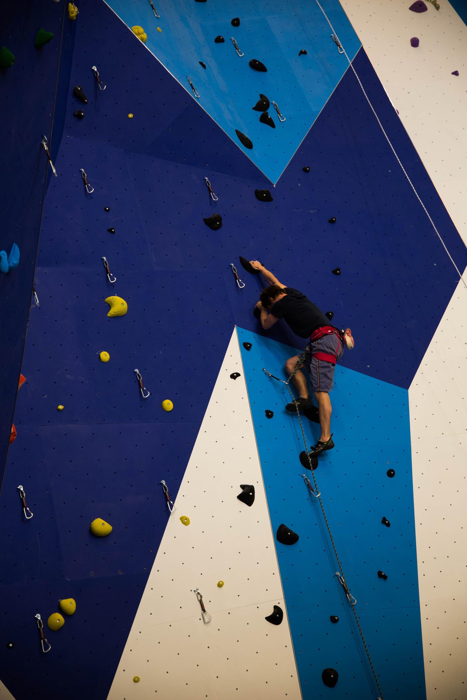 Man kan klatre høyt, høyt, høyt.