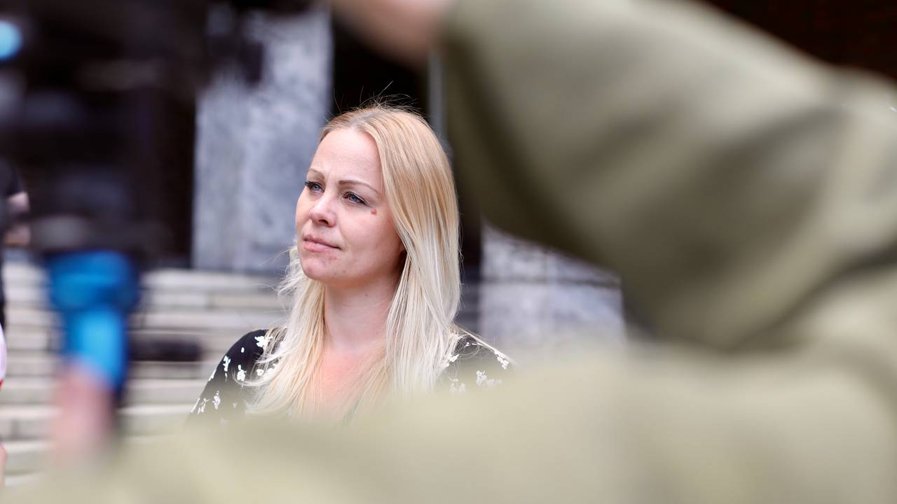 Eivor Evenrud på Rødts pressekonferanse om mistillit mot Lan Marie Berg.