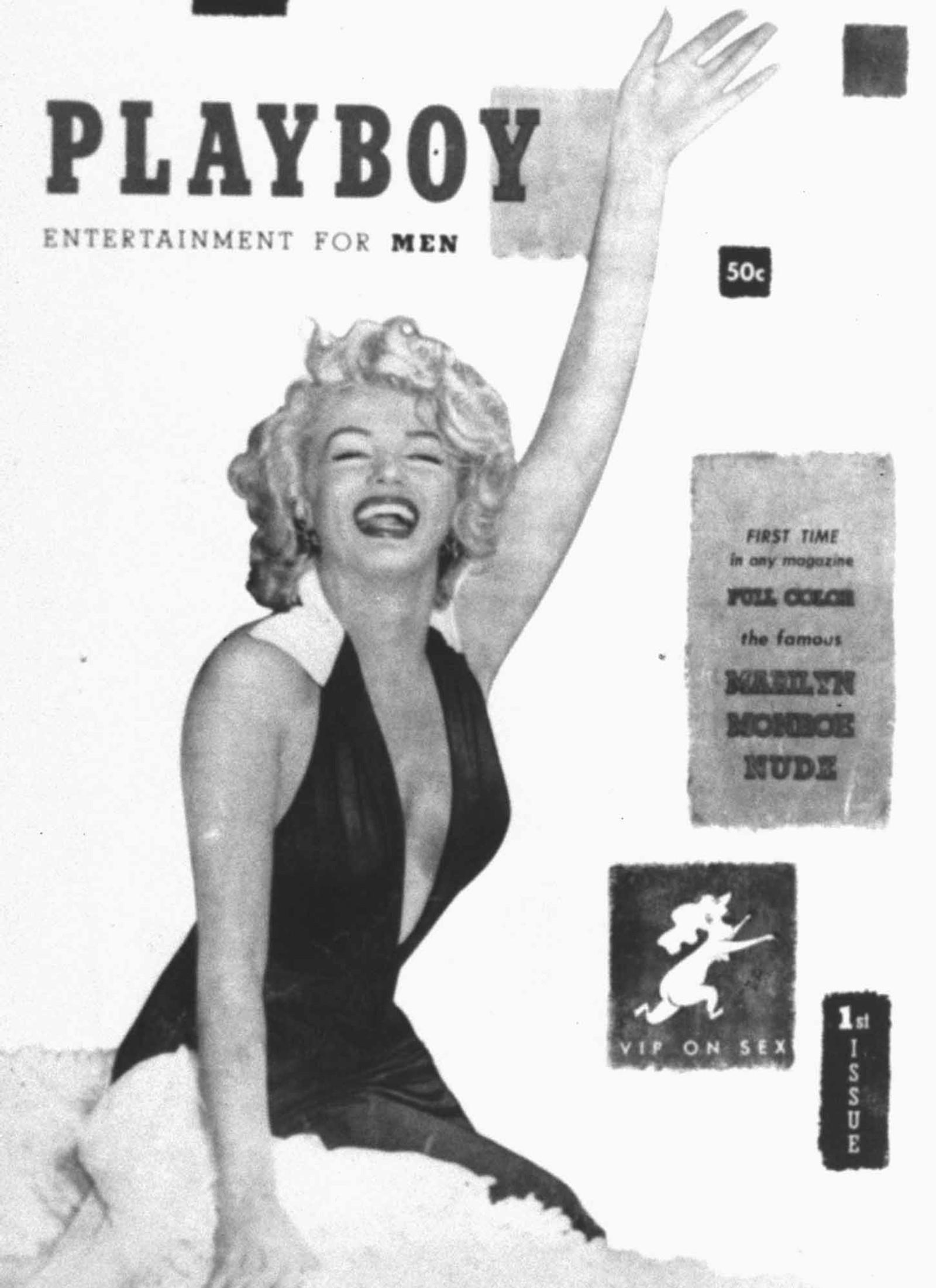 Marilyn Monroe var første kvinne avbildet på forsiden til det ikoniske magasinet Playboy.
