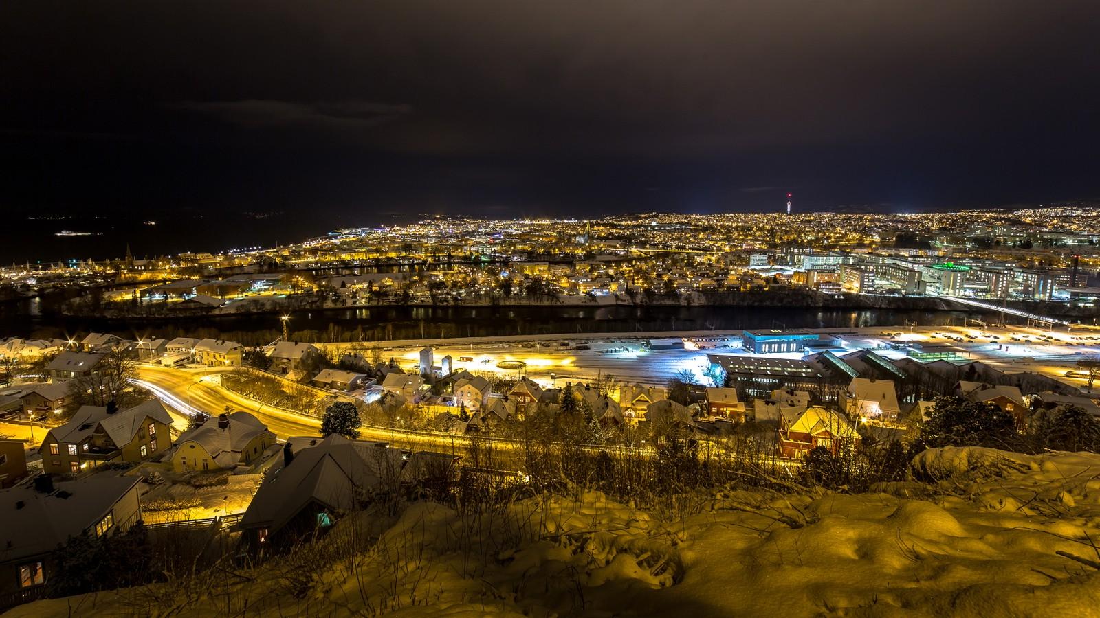 Kveldsstemning over Trondheim