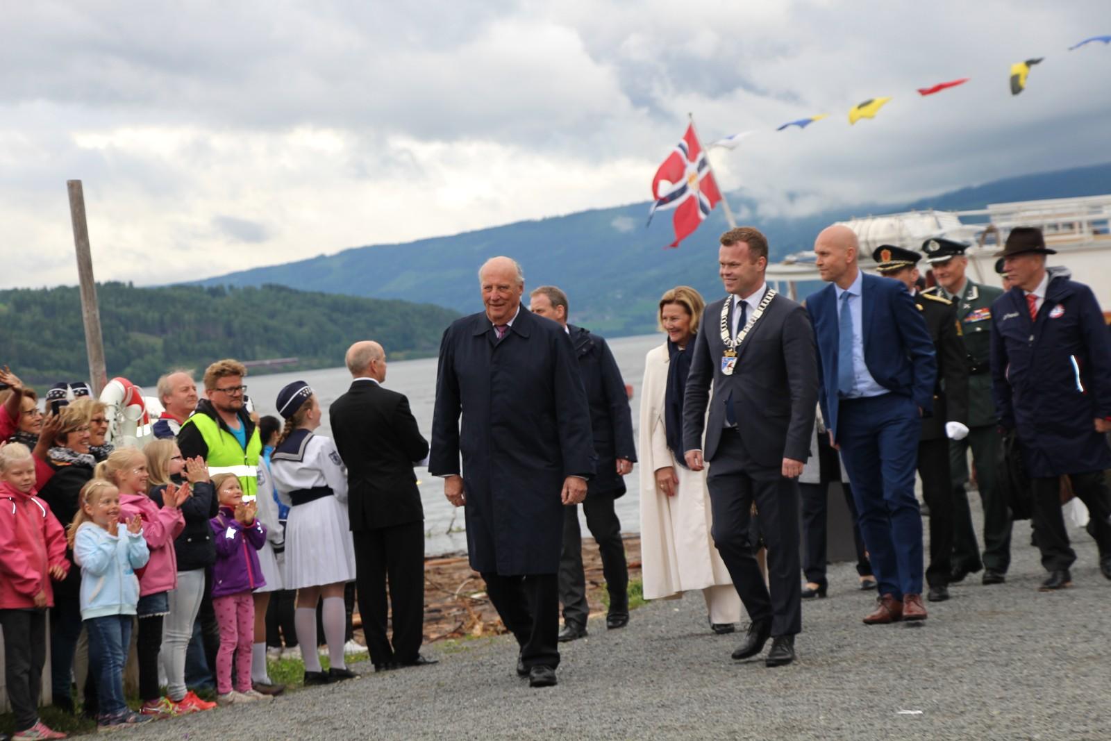 Ved ankomsten i Lillehammer.