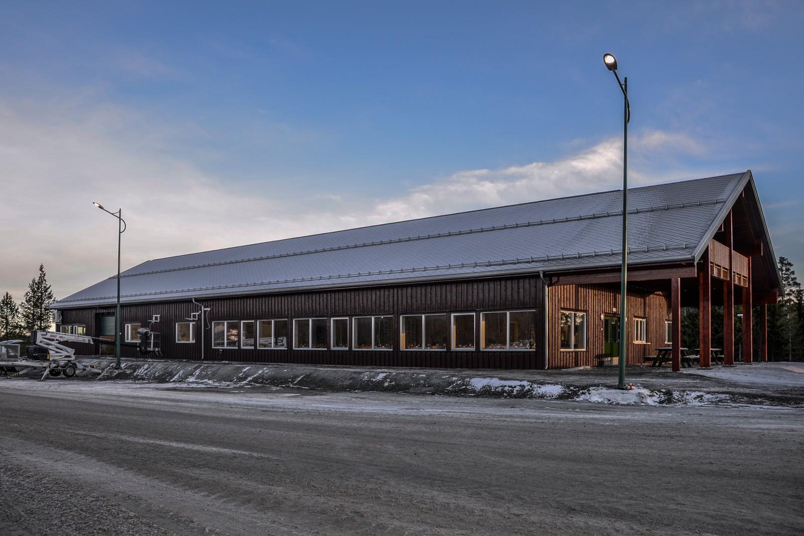 Det nye servicesenteret på Lygna Skisenter er på 650 kvadratmeter.