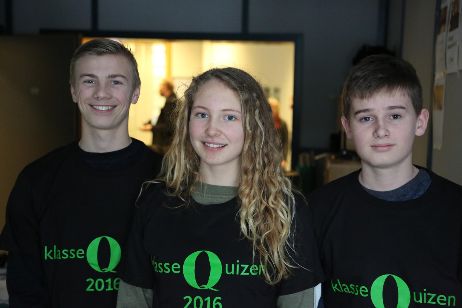 7 POENG: Austbø skole: Eivind Wilhelmsen Hustvedt, Emma Sønneland Tislevoll og Jarl Christian Helgøy.