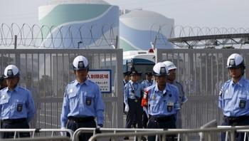 Skjerpet vakthold utenfor Sendai-kraftverket i Japan