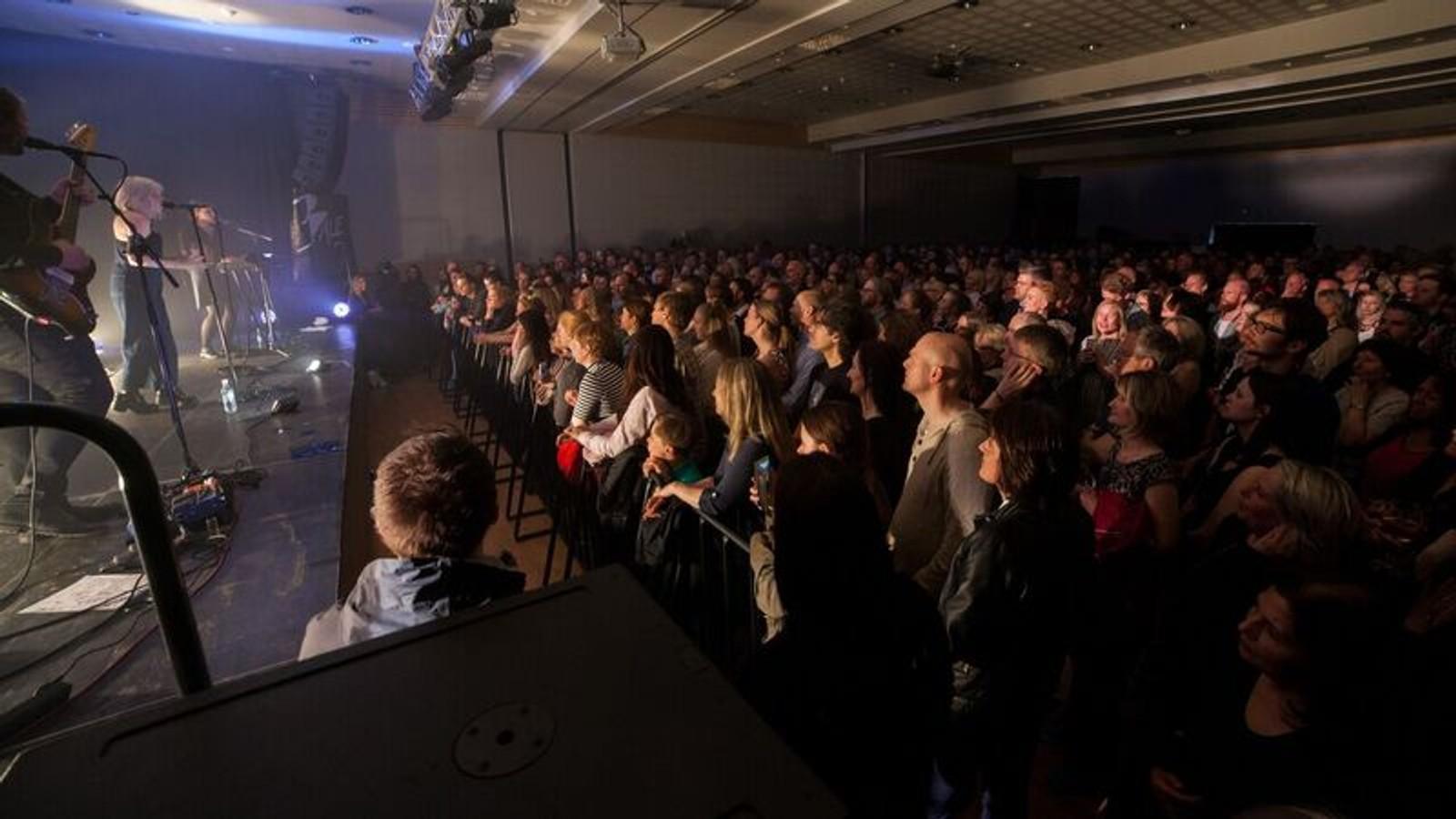GOD STEMNING: Konserten med Aurora Aksenes var utselt.