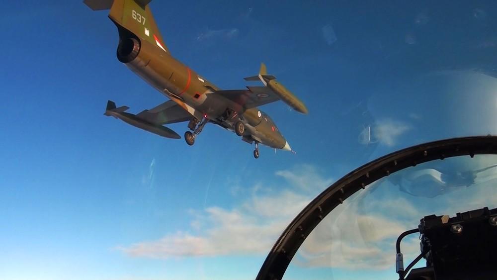 Mer enn 30 år etter at det ble tatt ut av tjeneste, var storebroren til F16-flyet tilbake på vingene i Norge.