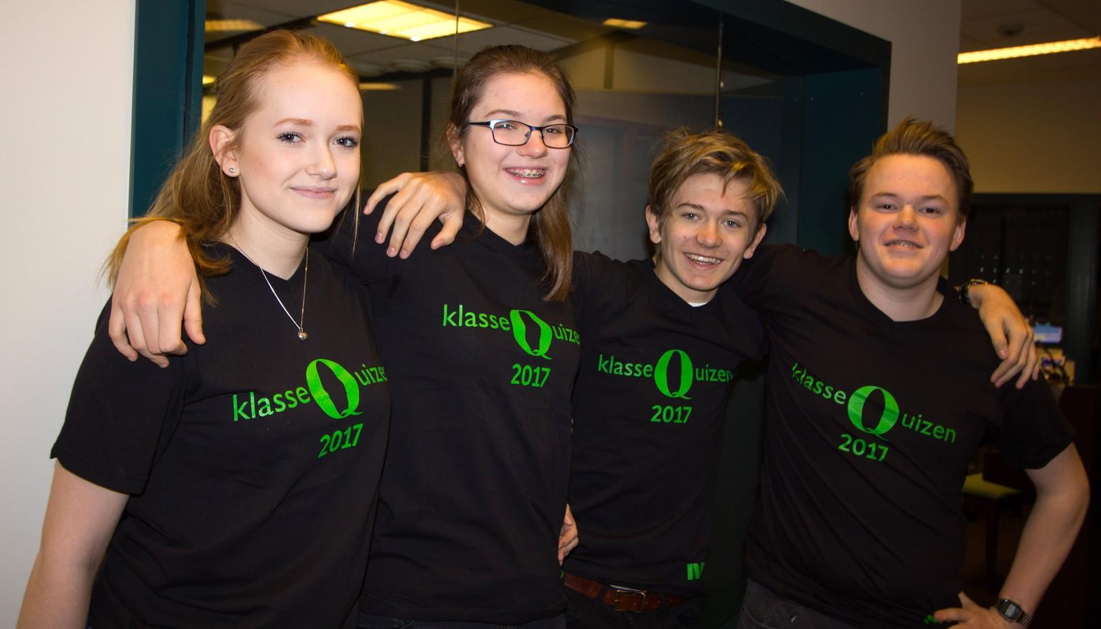 Sara Hønsi, Irina Shuatova, Thomas Forberg Haugvaldstad og Adam Aune representerte Revheim skole på Madla i Stavanger, og fikk ni poeng.