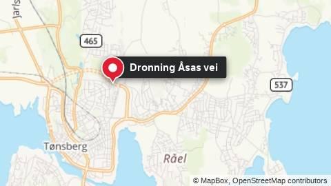 Kart over stedet der en person er bekreftet omkommet i brann