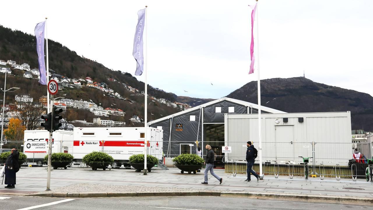 Teststasjon på Festplassen i Bergen