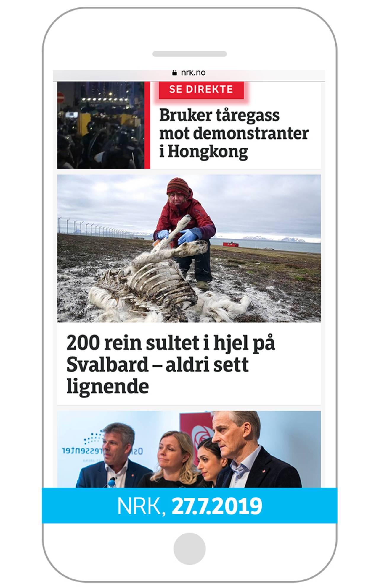 200 rein sultet i hjel på Svalbard