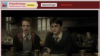 Stian Hafstad (t.v.) og Harry Potter