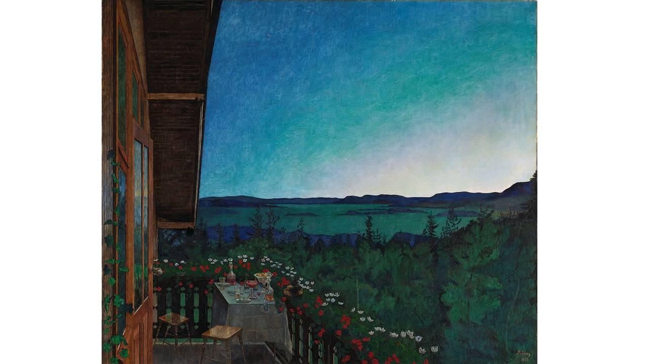Harald Sohlbergs «Sommernatt» fra 1899.