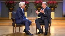 MILJØFORKJEMPER: Al Gore var hovedtaler under Nobels fredsprisforum i Oslo tirsdag.