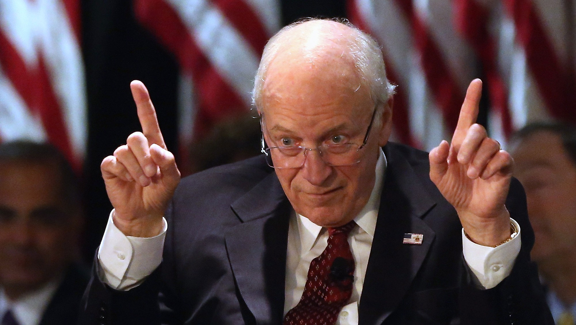 Dick cheney says wear a mask