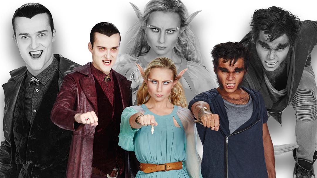 Bilde av karaktererne i tv-serien