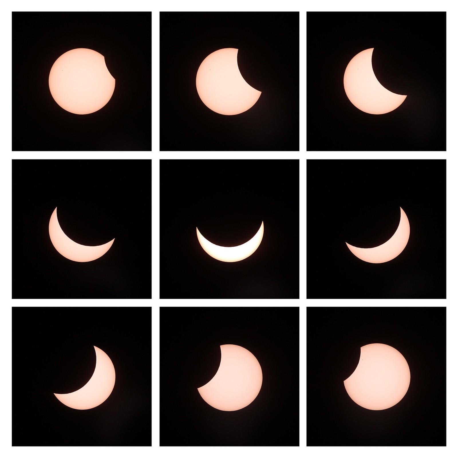 Ikke total, men delvis solformørkelse på kontinentet. Her fra Hamburg i Tyskland.