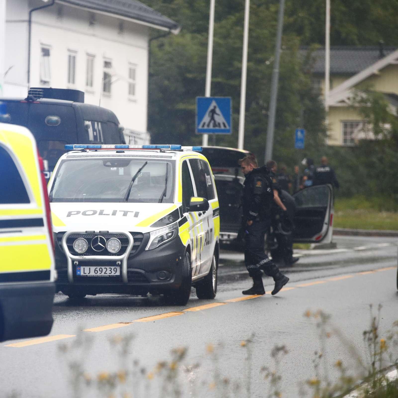 Politibiler med blålys