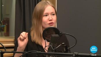 Runa Fjellanger i Rød ungdom sier hun gruer seg til 8. mars-møtene hvert år. – Det er de kjipeste debattene jeg er med i.