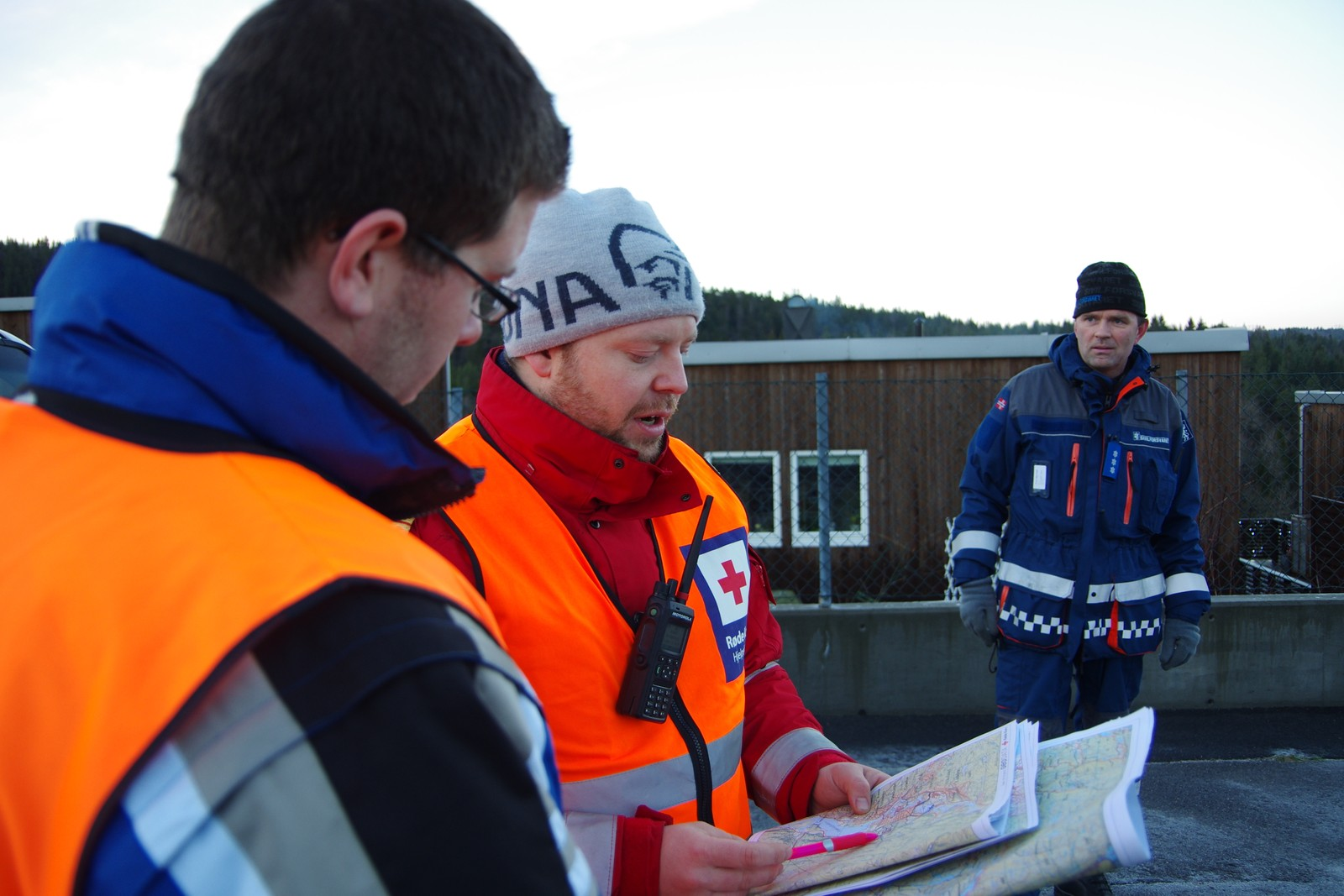 Kartstudie over leteområdene i Vennesla.