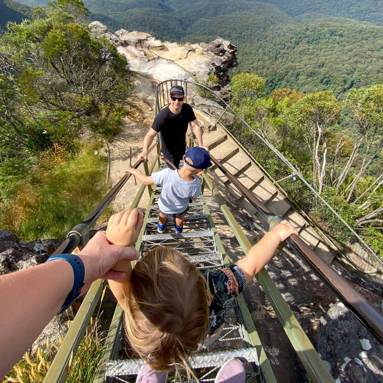 Familie på tur i Australia