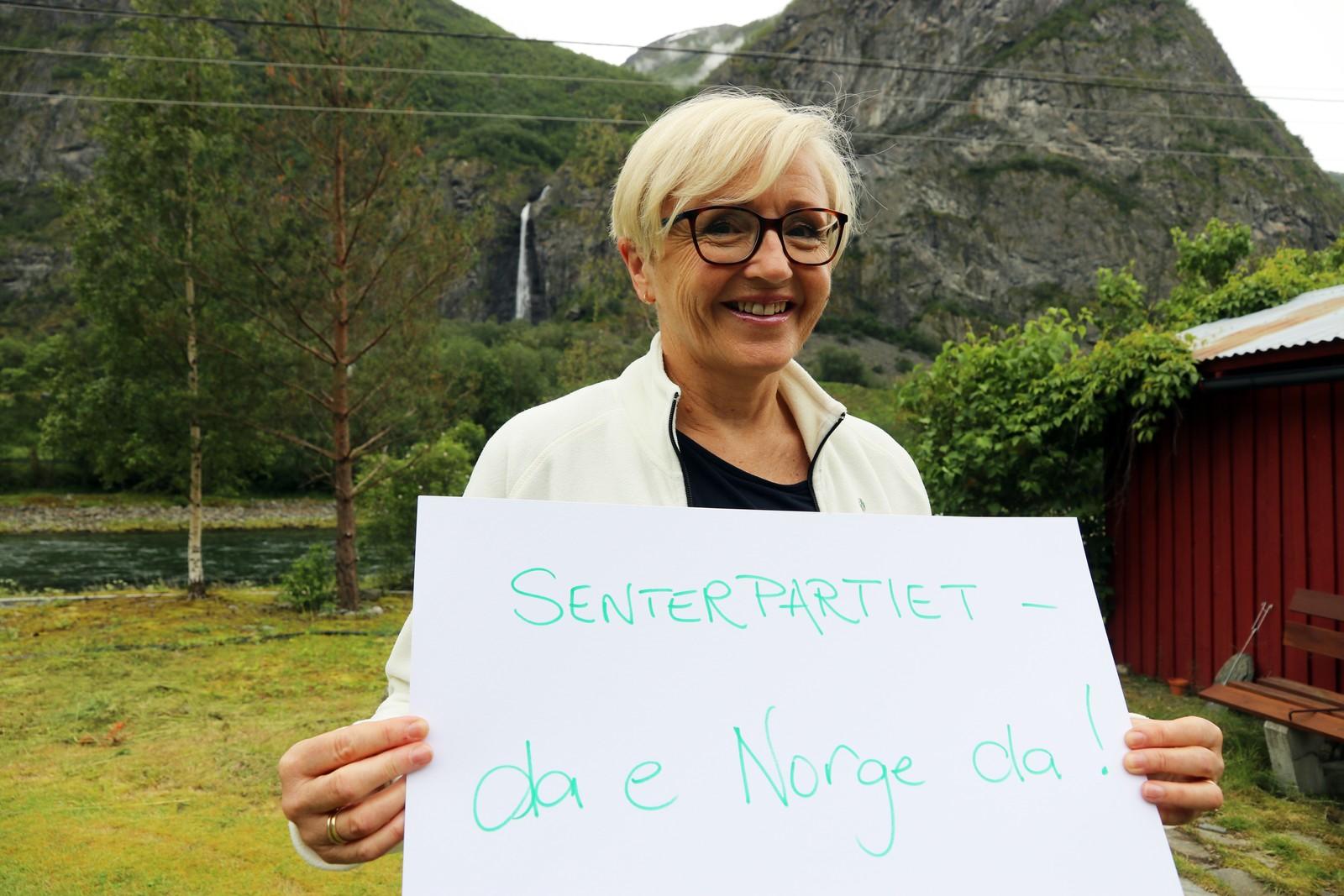 LIV SIGNE NAVARSETE (Sp): «Senterpartiet, da er Norge da».
