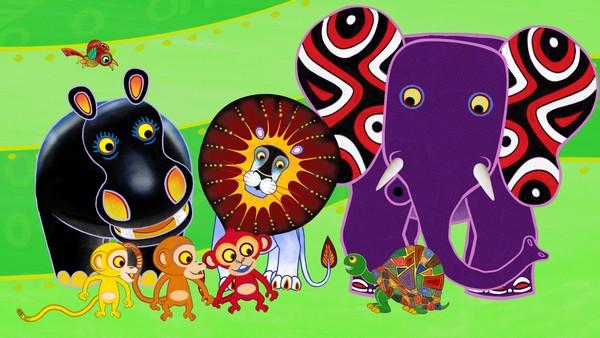 Her får du spennende afrikanske eventyr om hvorfor de forskjellige dyrene ble som de ble. Kenyansk animasjonsserie.